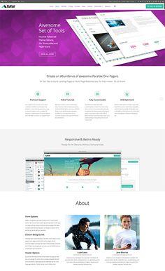 Raw - One-Page Responsive WordPress Theme - #onepage #responsive #wordpress #theme #template - http://designolymp.com