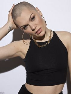 Superstar: Jessie J unveiled her bald head on BBC's Comic Relief show on Friday night after shaving her hair off for charity