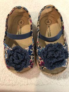 Genuine KIds By Oshkosh Girl Toddler Shoes size 4 M Blue e7f8955559be