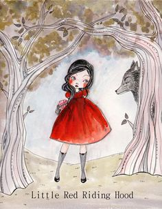 Little Red Riding Hood by Alicia Gaultier of TheDollAndThePea on Etsy