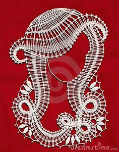 Lady make bobbin lace on red background Hairpin Lace Crochet, Crochet Motif, Crochet Edgings, Crochet Shawl, Bead Loom Patterns, Lace Patterns, Romanian Lace, Bobbin Lacemaking, Banner Printing