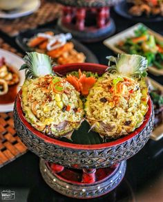 """Experience Thailand through this appetizing """"Pineapple Fried Rice"""" on our unique take on this Thai classic, only at #TheTAOBali   #thetanjungbenoabeachresortbali #thetanjungbenoa #TheTaoBali #bali Picture by: @jktshootandgram"""