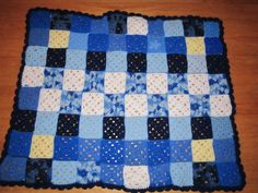 Crib or Stroller Afghan for Baby Boy