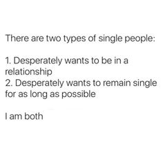 Me being single...