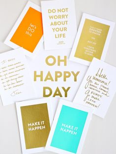 Oh Happy Day Print // Gold Foil