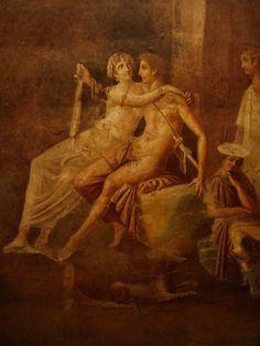 Dido and Aeneas, Ancient Roman fresco, Pompeii, Italy.