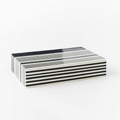 Surf Boxes | West Elm.  Large $39  Side view is perfect for dinning room cabinet.
