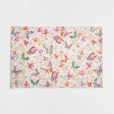 BUTTERFLY RUG - Rugs  - Bedroom | Zara Home United States of America ($50) ❤ liked on Polyvore featuring home, rugs, zara home and butterfly rug