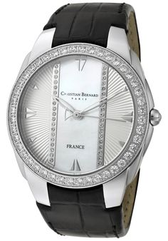 Price:$149.59 #watches Christian Bernard WA342ZWH, A touch of modernity combined with a parisian jewellery style Parisian, Omega Watch, Fashion Jewelry, Jewellery, Touch, Watches, Accessories, Style, Swag