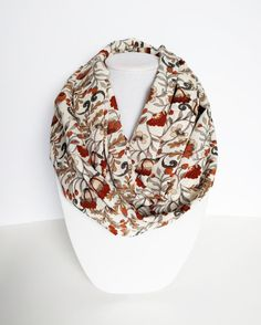 Hey, I found this really awesome Etsy listing at https://www.etsy.com/listing/186762808/floral-infinity-scarf-printed-scarf