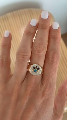 Gold Fashion, Fashion Rings, Fashion Jewelry, Ring Settings Types, Evil Eye Ring, Copper Material, Charm Rings, Types Of Rings, Kourtney Kardashian