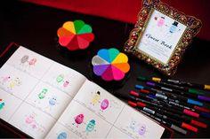 Ideas originales para bodas: tintas, árbol de huellas y firmas de invitados