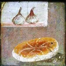 Pan e higos ~ Pompeya (Bread and figs, Pompeii) Ancient Roman Houses, Ancient Rome, Ancient Art, Pompeii Italy, Pompeii And Herculaneum, Fresco, Rome Painting, Roman Food, Classical Antiquity