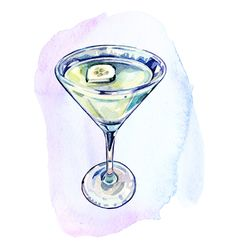 Martini's for Stylist Magazine - Holly Exley Illustration