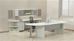 This modern white executive office furniture set offers a cool coastal vibe. At just $1735.99, you'll be hard pressed to find a cooler workstation.