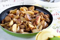 Sausage, apple, red potato skillet- extra easy and quick.