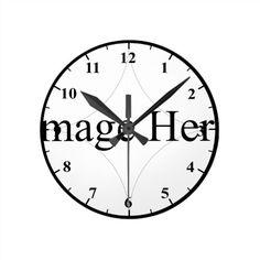 Customizable Photo, Round Medium Wall Clock