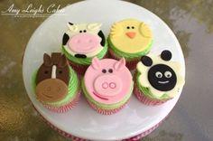 Farm Animal Cupcakes By Amyleigh3480 on CakeCentral.com