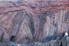 Angular unconformity - Carboniferous-Triassic unconformity (SW Portugal) Not all angular unconformities are this spectacular, but it's fun when they are.
