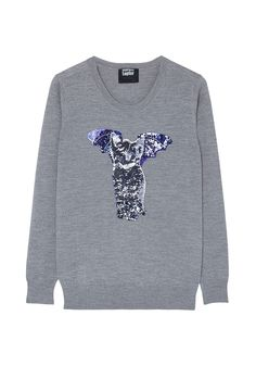 PRODUCT CODE: 394066 Catbat Sequin Nat Jumper By Markus Lupfer #MYWTRENDS #AW14 #POPCULTURE