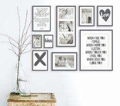 Collage met trouwfoto's - Maak je eigen trouwcollage - Printcandy Wall Art Sets, Diy Wall Art, Wall Art Decor, Wall Art Prints, Dining Room Wall Art, Kitchen Wall Art, Kirkland Home Decor, Hm Home, Cactus Wall Art