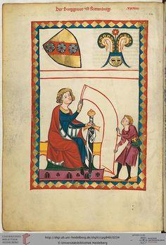 Cod. Pal. germ. 848 Große Heidelberger Liederhandschrift (Codex Manesse) Zürich, ca. 1300 bis ca. 1340 Folio: 119v