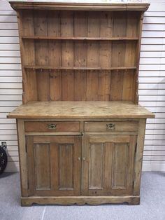 Gorgeous Antique Pickle Pine Pewter cupboard circa 1850
