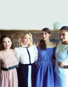Lucy, Ashley, Troian, and Shay