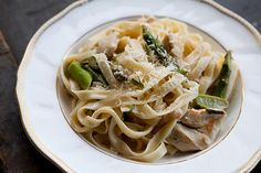 Pasta with Chicken and Asparagus on SimplyRecipes.com
