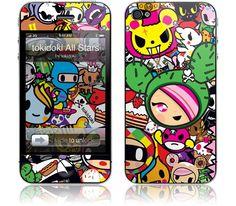 tokidoki - tokidoki All Stars - iPhone 4S, 4 | GelaSkins