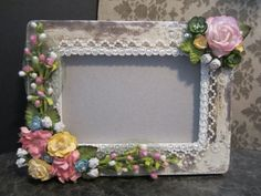 Altered picture frame idea.