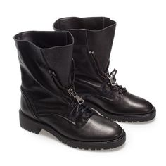 Image 2 of LEATHER MILITARY ANKLE BOOT from Zara