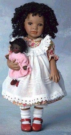 black porcelain dolls   Pauline Bjonness-Jacobsen has always made beautiful black dolls and ...