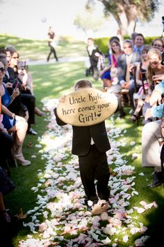 Personalized Wedding Decor; cute ringer bearer sign; Wedding by All You Need is Love Events