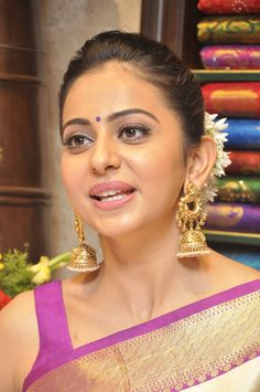 Rakul Preet Photos In White Saree At South India Shopping Mall Launch - Rakul Preet Singh