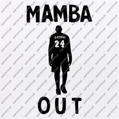 Mamba Out Print, Kobe Bryant, Famous Quotes Print, Garage