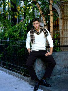 Sweater Weather Ft Andrea Denver by Joseph Bleu Boy Fashion, Mens Fashion, Fashion Outfits, Hot Guys, Hot Men, Modern Man, Sweater Weather, Gorgeous Men, Preppy