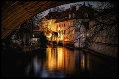 Photograph Kampa by Václav Verner on Photography Sites, Amazing Photography, Prague Czech Republic, Personal Photo, Night Vision, Travel Pictures, World, Street, Places