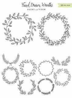 Flowers wreath drawing black and white super ideas Embroidery Patterns, Hand Embroidery, Drawing Borders, Marie Suarez, Tatuagem Diy, Doodle Drawing, Doodle Doodle, Doodle Frames, Watercolor Flower Wreath