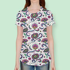 Discover «Floral pattern fantasy», Numbered Edition Women's All Over T-Shirt by Olga S - From $39 - Curioos