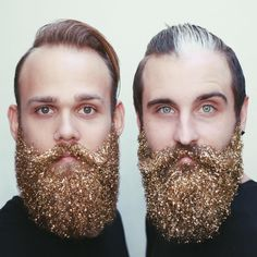 Glitter Beards!! If you are curious how we did these, check out the link in our bio ❤️ #GlitterBeard