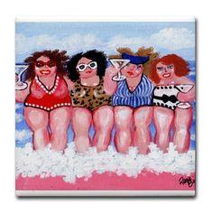 Mollige strand Divas vriendinnen plezier door reniebritenbucher