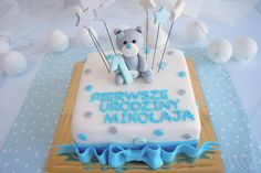 Znalezione obrazy dla zapytania tort z misiem Birthday Cake, Desserts, Food, Tailgate Desserts, Deserts, Birthday Cakes, Essen, Postres, Meals