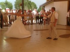 Bride and Groom do a well practiced routine for their first dance.