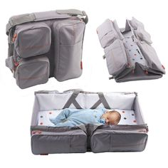 Changing bag, carry cot and changing station all in one.