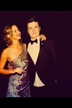 Josh Hutcherson and Jennifer Lawrence. I want to marry them both.