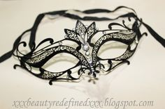 BeautyRedefined by Pang: Laser Cut Venitian Mask. Maybe for the party I'm going to...