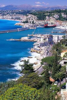 Nice, France- I hope to go here one day. My dad was stationed there as a radio tower operator for two years during the Korean War.