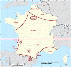 La carte de France vue par les Toulousains
