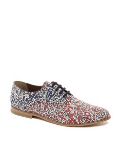 Check out these shoes!  B-Store Mario 36 Floral Lace-Up Shoes  $356.84